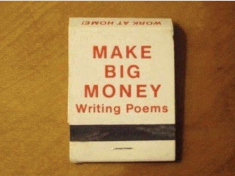 Make big money writing poems